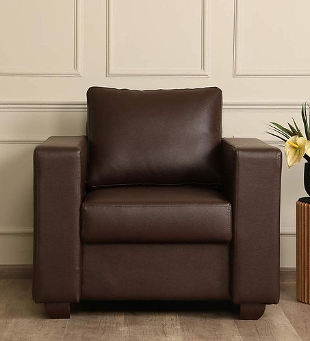 Sato 1 Seater Sofa In Brown Leatherette