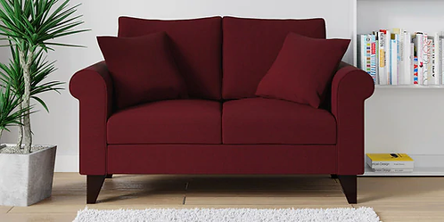 Figo 2 Seater Sofa in Maroon