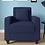 Thumbnail: Jenny 1 Seater Sofa In Navy Blue