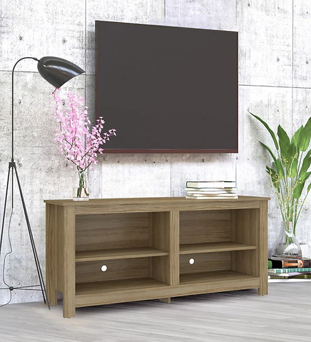 Ayame TV Unit in Clay Brown Finish
