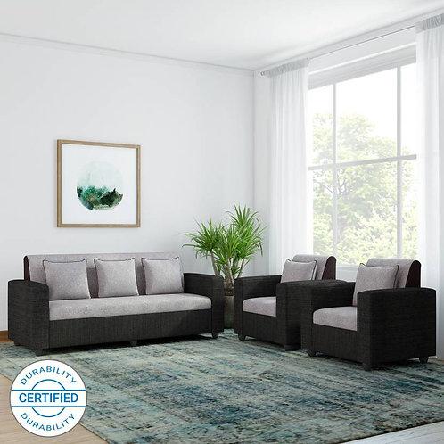 Tulip - 5 Seater Sofa (Grey & Black)