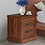 Thumbnail: Touma Bedside Table with Two Drawers in Walnut Finish