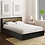 Thumbnail: Enri King Size Bed with Storage in Wenge Finish
