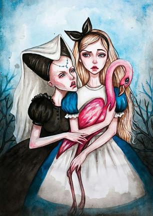 """Алиса воскликнула: """"Нельзя поверить в невозможное!"""" """"Просто у тебя мало опыта, - заме"""