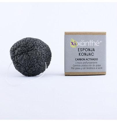 Esponja Facial Konjac Carbón Activado