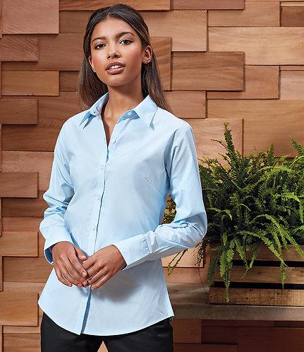 Premier Ladies Supreme Long Sleeve Poplin Shirt