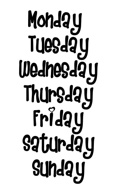 Days of the Week Label Bundle