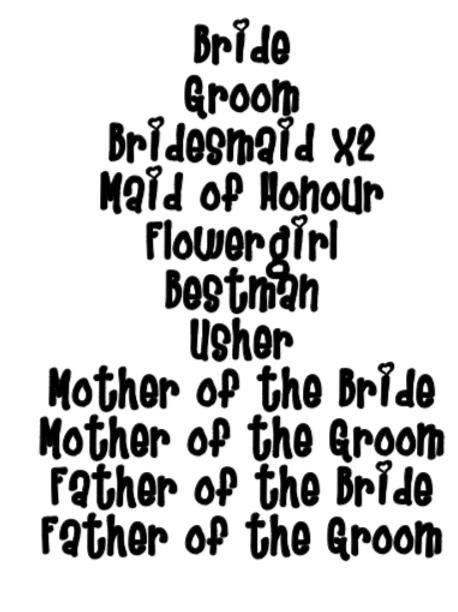 Bridal Party Large Bundle