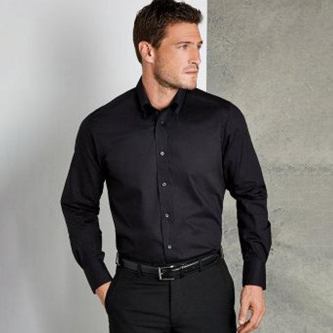 Kustom Kit Long Sleeve Tailored City Business Shirt