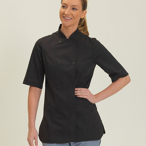 Dennys Ladies Short Sleeve Premium Chef's Jacket