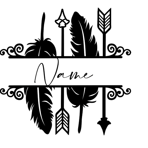 Feathers & Arrows Decal