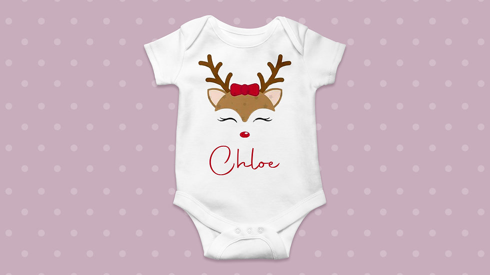 Christmas Personalised Baby/Toddler Bodysuit