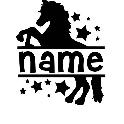 Name Unicorn Decal