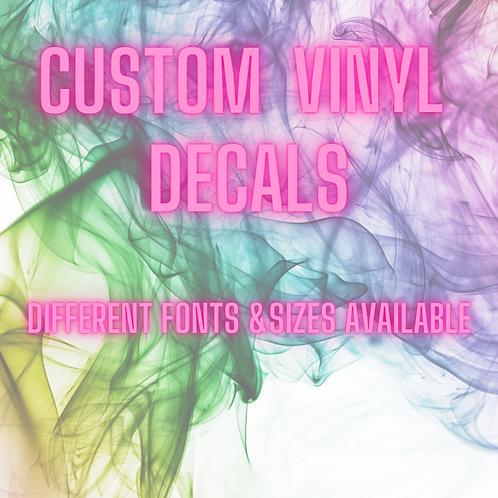 Custom Vinyl Label