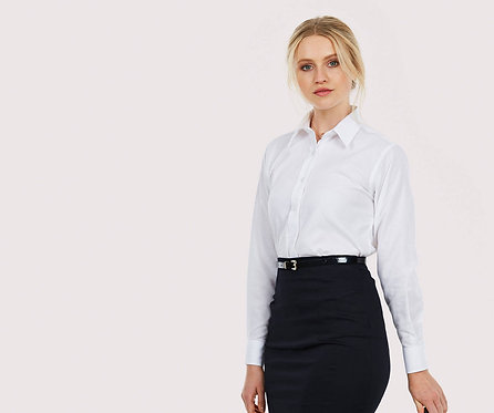 Uneek Ladies Pinpoint Oxford Full Sleeve Shirt