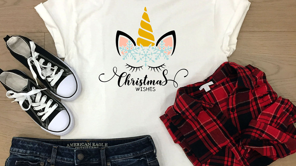 Unicorn Christmas Wishes T-shirt