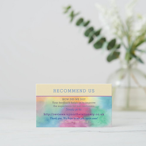 Recommend Us Cards