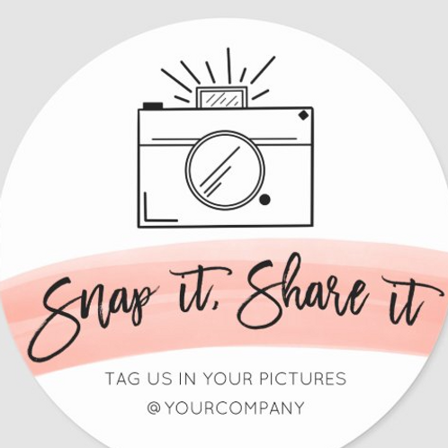 Snap Tag Share Stickers