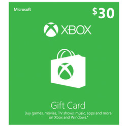Xbox Microsoft Gift Card $30 Competition