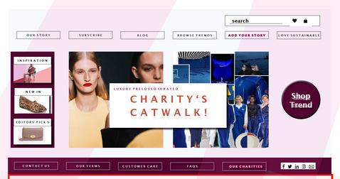 Charitys Catwalk Website