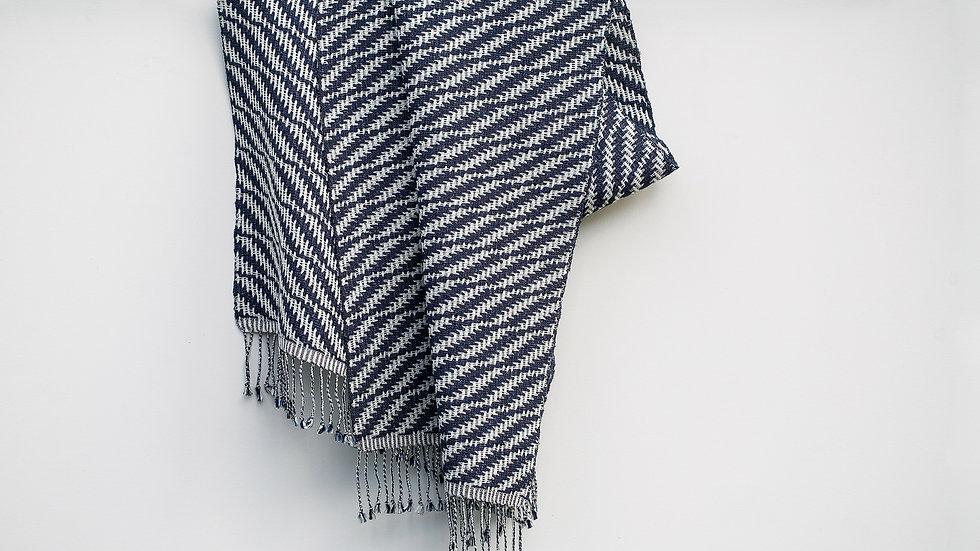 Silk, Wool and Viscose Strip Scarf