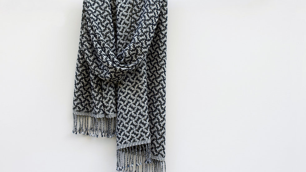 Silk, Wool and Gold Scarf