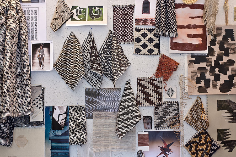 Woven textiles sample project moodboard
