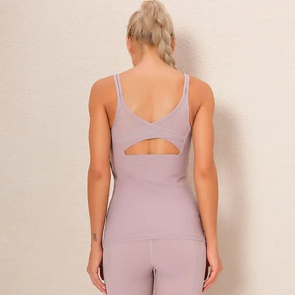 Women Gym Exercise Athletic Yoga Tops Workout Tank Tops Sports Shirts Running Ve
