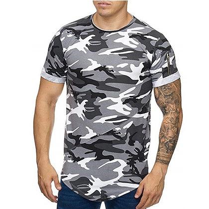 Junior Camouflage Men′s Short-Sleeved Loose-Fitting Slim Fit