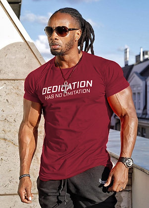 Cross-Border Muscle Brothers Casual Sports Short-Sleeved Cotton Summer Round Nec