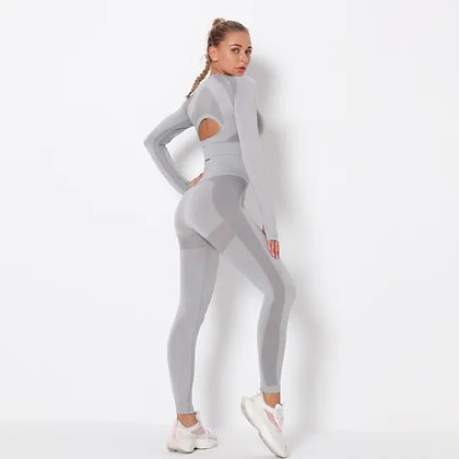 Seamless Yoga Clothing Suit Yoga Pants Sports High Waist Tight Fitness Pants Top