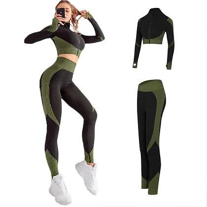 2-piece suit - Body-Building Women Seamless Yoga