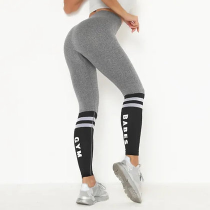 Fitness Pants Women′s Elastic Tight-Fitting High-Waist Hip-Lifting Thin and Quic