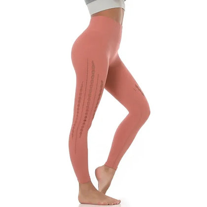Amazon Hot Peach Hip Yoga Pants Women Mesh Breathable Quick-Drying Seamless High