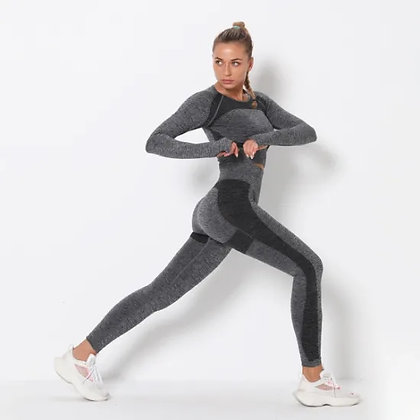 Seamless Yoga Suit Yoga Pants Sports High Waist Tight Fitness Pants Top
