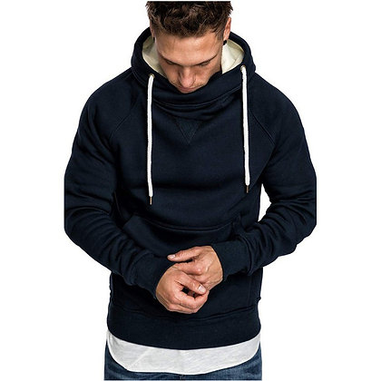 Stand-up Collar Fashion Hooded Sweater Men