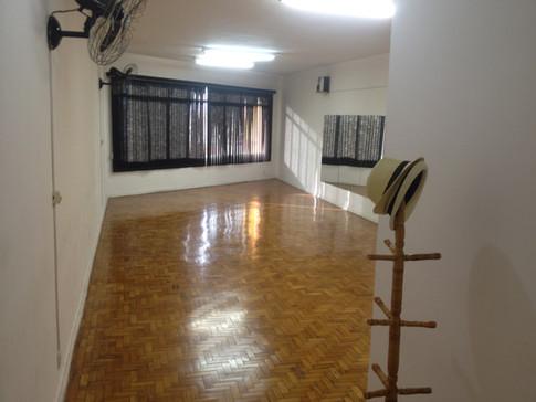 Sala do curso de teatro