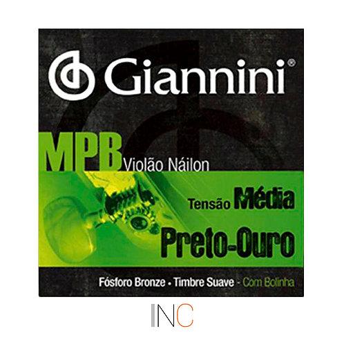 Encordoamento Gianini NY Preto Ouro