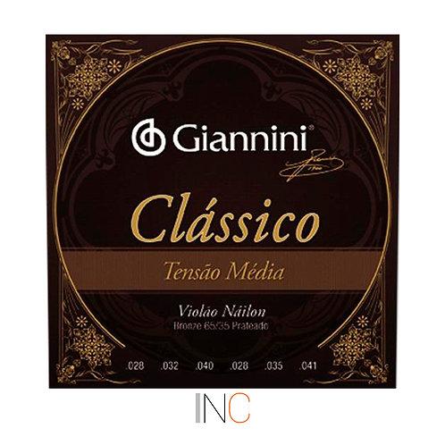 Encordoamento Giannini Classico NY tensão media