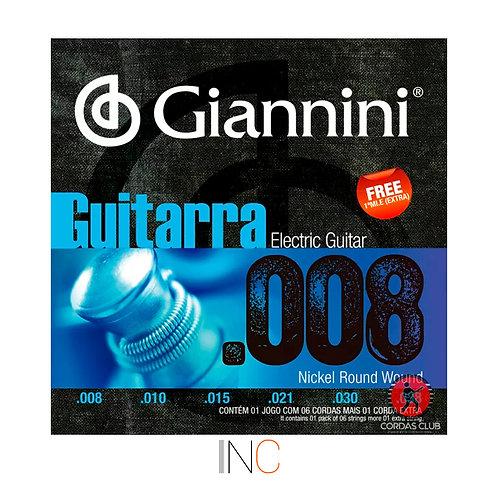 Encordoamento Giannini Guitarra 0.10