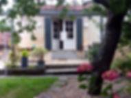 Gîte côté terrasse et jardin