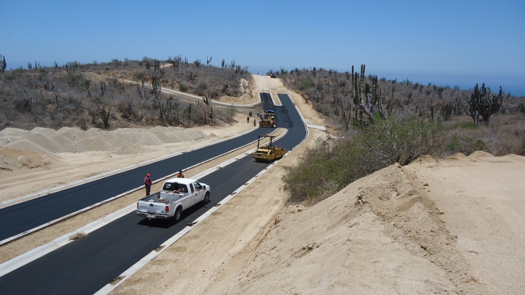 Paving works up to Block 19