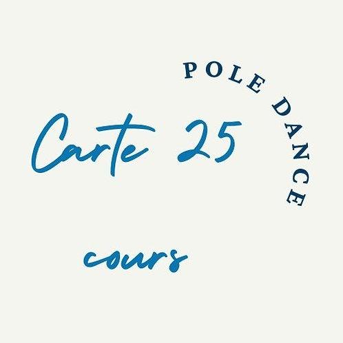 Carte 25 cours Pole dance