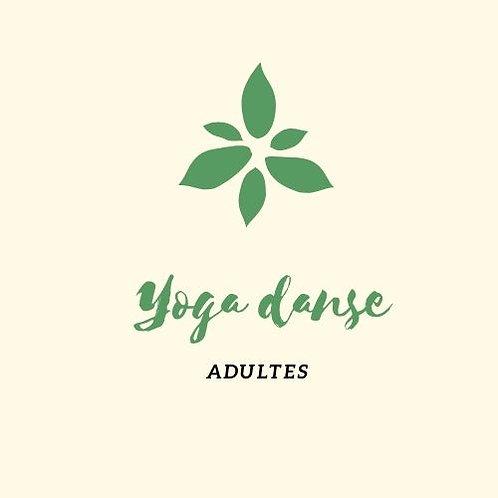 Carte 10 cours Yoga danse