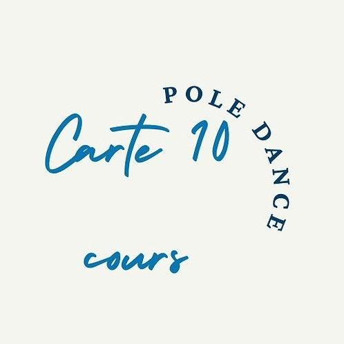 Carte 10 cours Pole dance