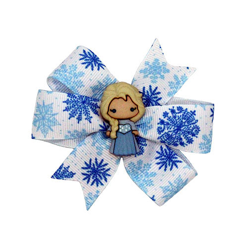 Two Frozen inspired bows.