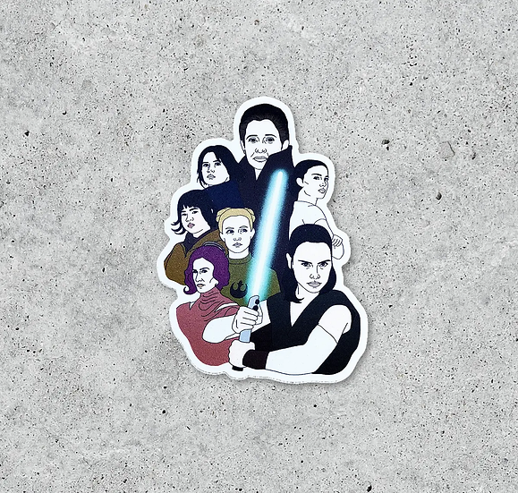 Women of Star Wars Sticker