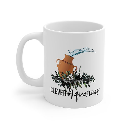 Clever Aquarius & Clarinet Mug 11oz