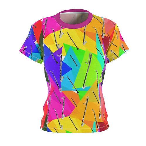 Colorful Triangles & Clarinets Women's T-Shirt