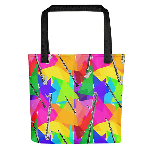 Clarinets & Abstract Triangles Tote Bag